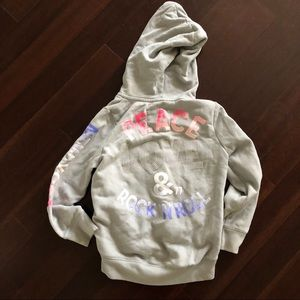 77 kids by American Eagle Zipper high-lo hoodie